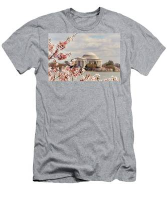 Cherry Blossom And Jefferson Men's T-Shirt (Athletic Fit)