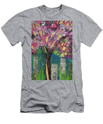 Cherry Blossom Too Men's T-Shirt (Athletic Fit)