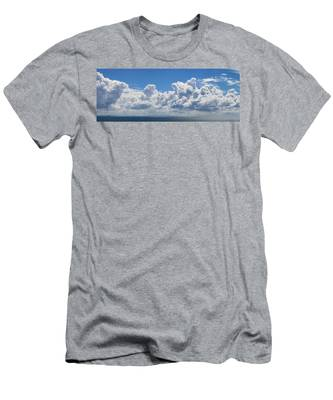 Clouds Over Catalina Island - Panorama Men's T-Shirt (Athletic Fit)