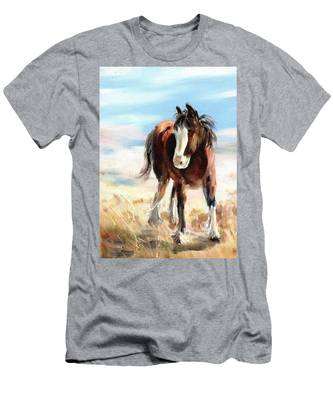 Clydesdale Foal Men's T-Shirt (Athletic Fit)
