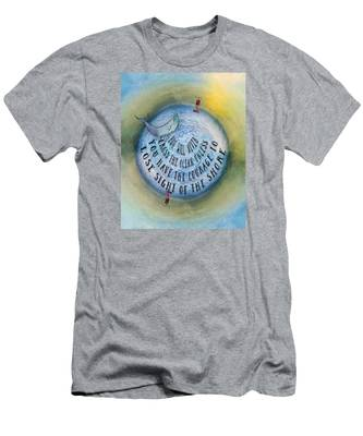 Courage To Lose Sight Of The Shore Mini Ocean Planet World Men's T-Shirt (Athletic Fit)