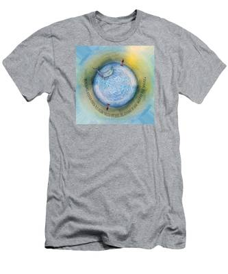 Courage To Lose Sight Of The Shore Orb Mini World Men's T-Shirt (Athletic Fit)