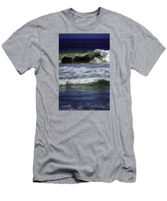 Men's T-Shirt (Athletic Fit) featuring the photograph Crashing Wave by Brad Wenskoski