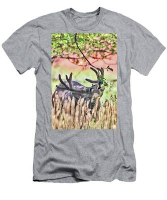 Deer In The Orchard Men's T-Shirt (Athletic Fit)