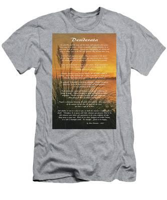 Desiderata - Go Placidly Men's T-Shirt (Athletic Fit)