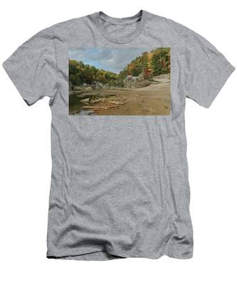Downstream From Cumberland Falls Men's T-Shirt (Athletic Fit)