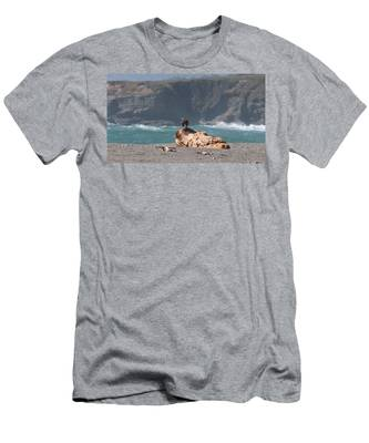 Men's T-Shirt (Athletic Fit) featuring the photograph Eagle's Perch  by Christy Pooschke