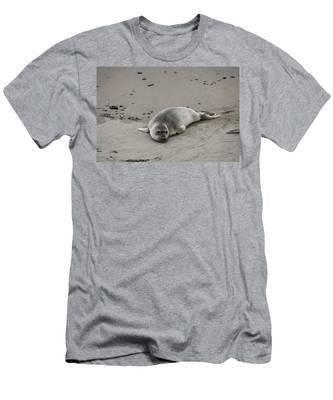 Men's T-Shirt (Athletic Fit) featuring the photograph Elephant Seal - 2  by Christy Pooschke