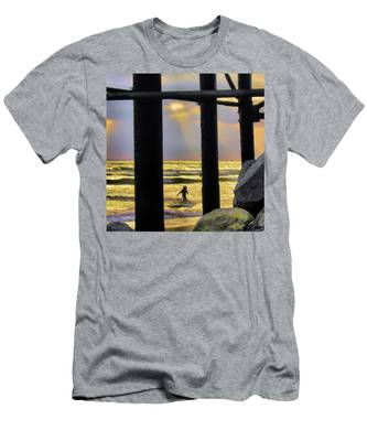 Men's T-Shirt (Athletic Fit) featuring the photograph End Of Day by Howard Bagley