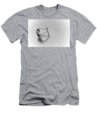 Erasing His Tracks Men's T-Shirt (Athletic Fit)