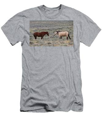Men's T-Shirt (Athletic Fit) featuring the photograph Facing Off  by Christy Pooschke