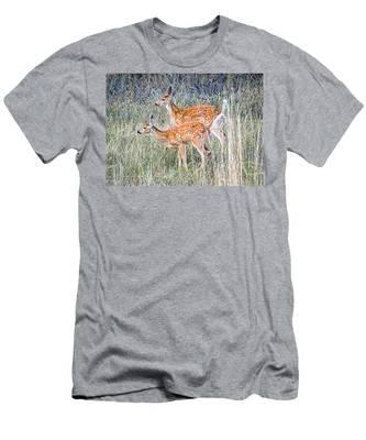 Fawns At Bigfork Men's T-Shirt (Athletic Fit)