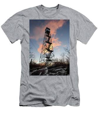 Men's T-Shirt (Athletic Fit) featuring the photograph Fire Tower Sky by Brad Wenskoski