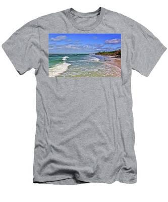 Florida Gulf Coast Beaches Men's T-Shirt (Athletic Fit)
