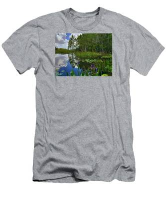 Florida Wetlands Reflections Men's T-Shirt (Athletic Fit)