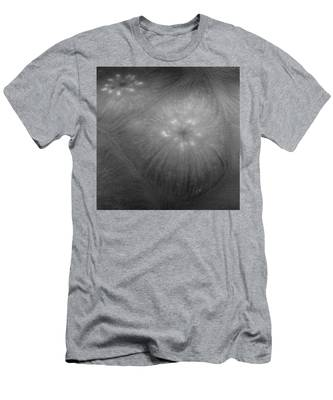 Men's T-Shirt (Athletic Fit) featuring the photograph Frozen Ice Star Burst by Dennis Dame