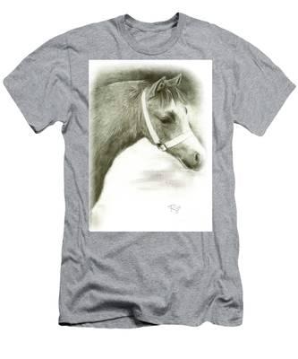 Grey Welsh Pony  Men's T-Shirt (Athletic Fit)