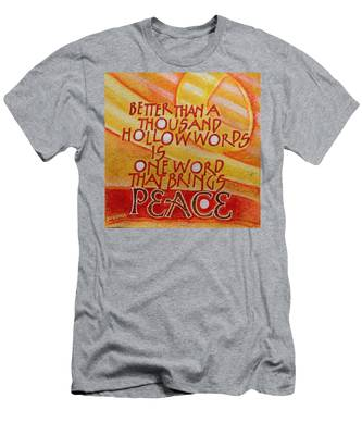 Inspirational Saying Peace Men's T-Shirt (Athletic Fit)