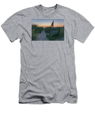 Men's T-Shirt (Athletic Fit) featuring the photograph Jerry's Bench by Brad Wenskoski