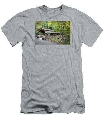 Lanterman's Mill Covered Bridge Men's T-Shirt (Athletic Fit)