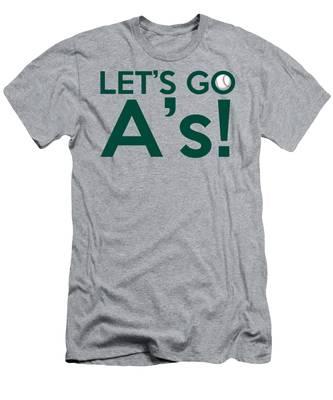 Let's Go A's Men's T-Shirt (Athletic Fit)