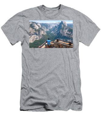 Man In Awe- Men's T-Shirt (Athletic Fit)