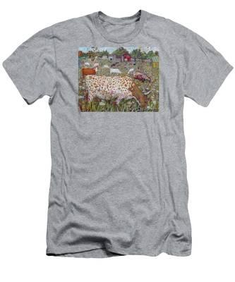 Meadow Farm Cows Men's T-Shirt (Athletic Fit)