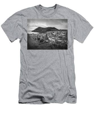 Monte Brasil And Angra Do Heroismo, Terceira Island, Azores Men's T-Shirt (Athletic Fit)