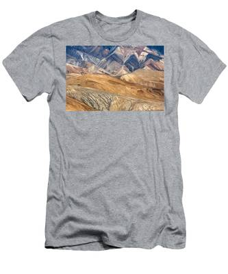 Mountain Abstract 4 Men's T-Shirt (Athletic Fit)