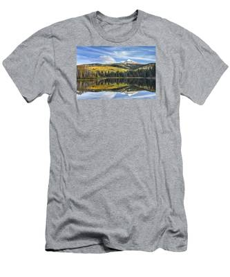 Mountain Lake Reflection Men's T-Shirt (Athletic Fit)