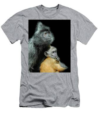 Men's T-Shirt (Athletic Fit) featuring the photograph My Baby by Howard Bagley