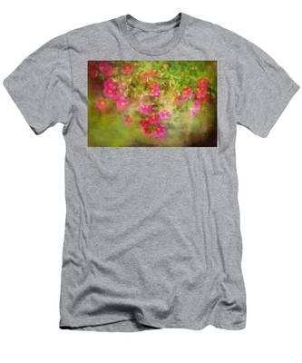 Painted Flowers Men's T-Shirt (Athletic Fit)