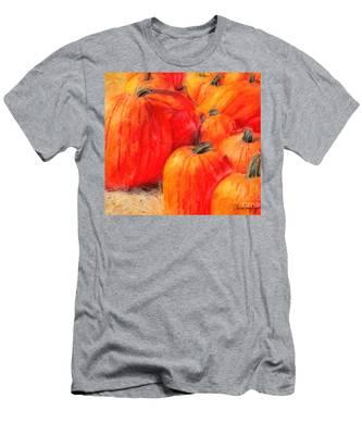 Painted Pumpkins Men's T-Shirt (Athletic Fit)