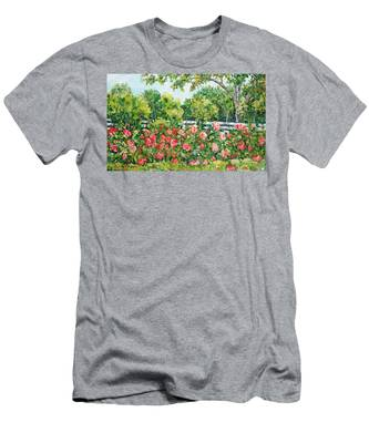 Peony Riot Men's T-Shirt (Athletic Fit)