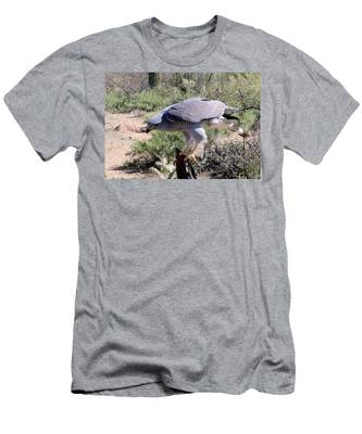 Men's T-Shirt (Athletic Fit) featuring the photograph Peregrine Falcon  by Christy Pooschke
