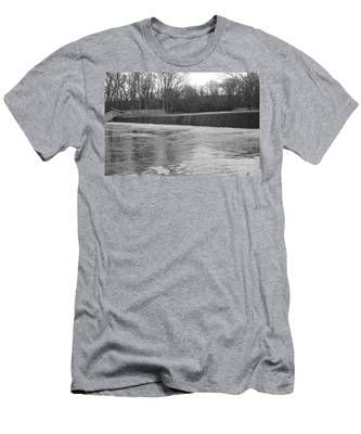 Pompton Spillway In January Men's T-Shirt (Athletic Fit)