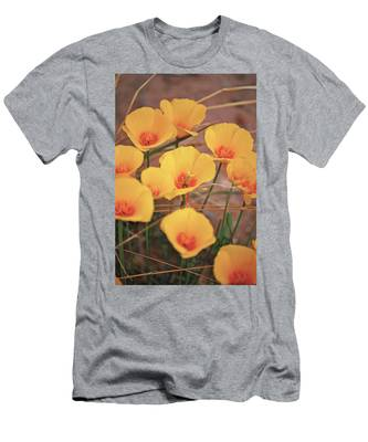 Poppies On Mount Lemmon Men's T-Shirt (Athletic Fit)