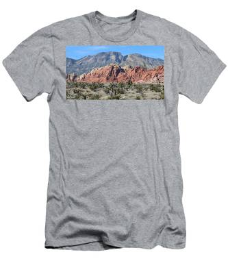 Men's T-Shirt (Athletic Fit) featuring the photograph Red Rock Canyon  by Christy Pooschke