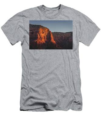 Men's T-Shirt (Athletic Fit) featuring the photograph Red Rock Formations At Sunrise by Andy Konieczny
