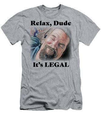Relax, Dude Men's T-Shirt (Athletic Fit)