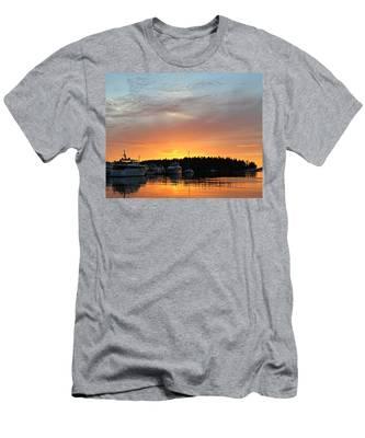 Roche Harbor Sunset Men's T-Shirt (Athletic Fit)