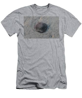 Men's T-Shirt (Athletic Fit) featuring the photograph Sand Dollar  by Christy Pooschke