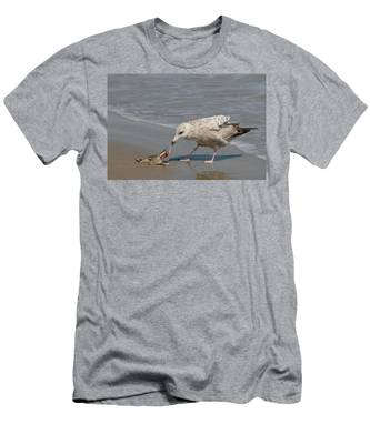 Men's T-Shirt (Athletic Fit) featuring the photograph Seaside Snack - 3 by Christy Pooschke