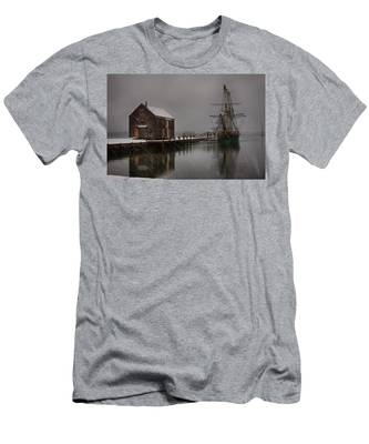 Men's T-Shirt (Athletic Fit) featuring the photograph Silently The Snow Falls. by Jeff Folger