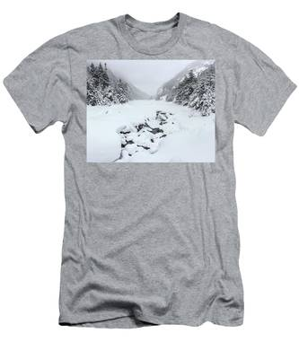 Men's T-Shirt (Athletic Fit) featuring the photograph Snow Covered Lake by Brad Wenskoski