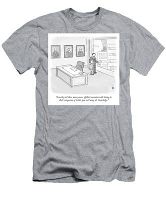 Someday All These Anonymous Offshore Accounts Men's T-Shirt (Athletic Fit)
