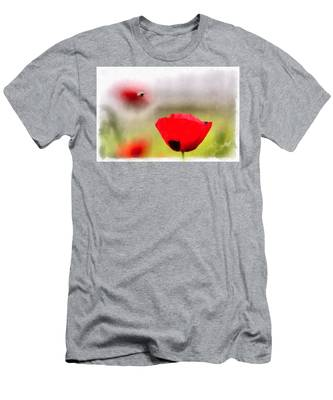 Spring Flowering Poppies Men's T-Shirt (Athletic Fit) by Michael Goyberg