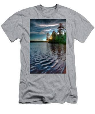 Star Sunset On Nicks Lake Men's T-Shirt (Athletic Fit)