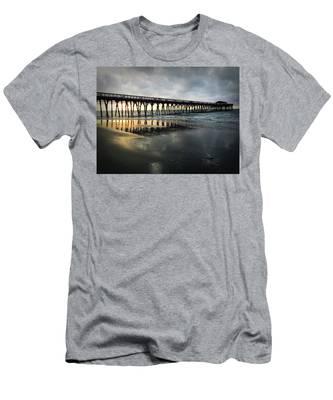 Storm At Sunrise In Color Men's T-Shirt (Athletic Fit)