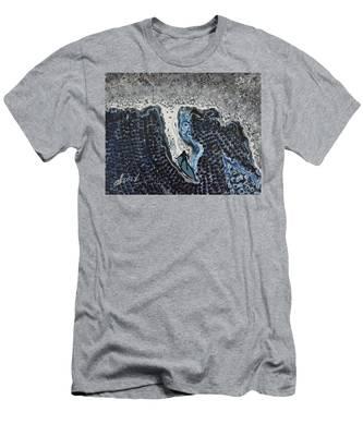 Storm Surfer Original Painting Sold Men's T-Shirt (Athletic Fit)